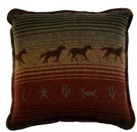 Mustang Canyon Western Horses Throw Pillow 20 x 20