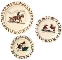 Cowboy Christmas Dinnerware 3Plate Set