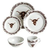 Longhorn Western Dinnerware 20Pc Set NO Saucer