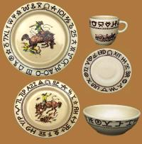 Westward Ho Rodeo Dinnerware 20Pc Set