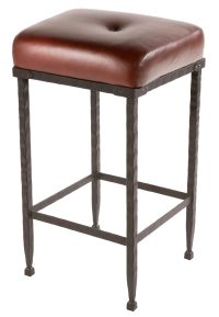 Forest Hill Iron Padded Seat Bar Stool 25 inch