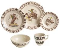 Vintage Cowboy Dinnerware Related Keywords - Vintage ...