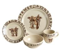 Boots and Saddle Western Dinnerware 4 Pc Place Setting by ...