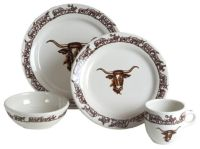 Longhorn Western Dinnerware 16 Pc Set by True West