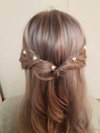 Set of Simple Pearl Hair Pins