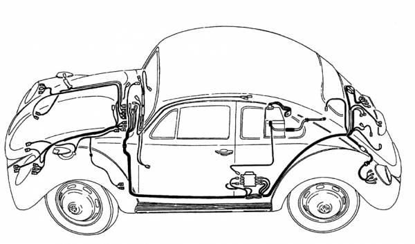 1972 vw beetle wiring loom