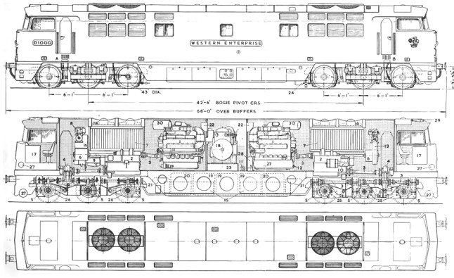 Diesel Traction Group - D1015 Western Champion, Western Technical