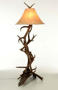 Moose and Elk Antler Floor Lamp - Free Shipping!