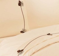 Pine Cone Lodge Sheet Set Western Lodge Sheets and Towels ...