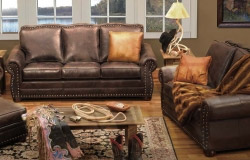 Western Style Furniture Leather Cowhide Furniture