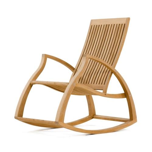 Contemporary Modern Teak Rocking Chair Westminster Teak