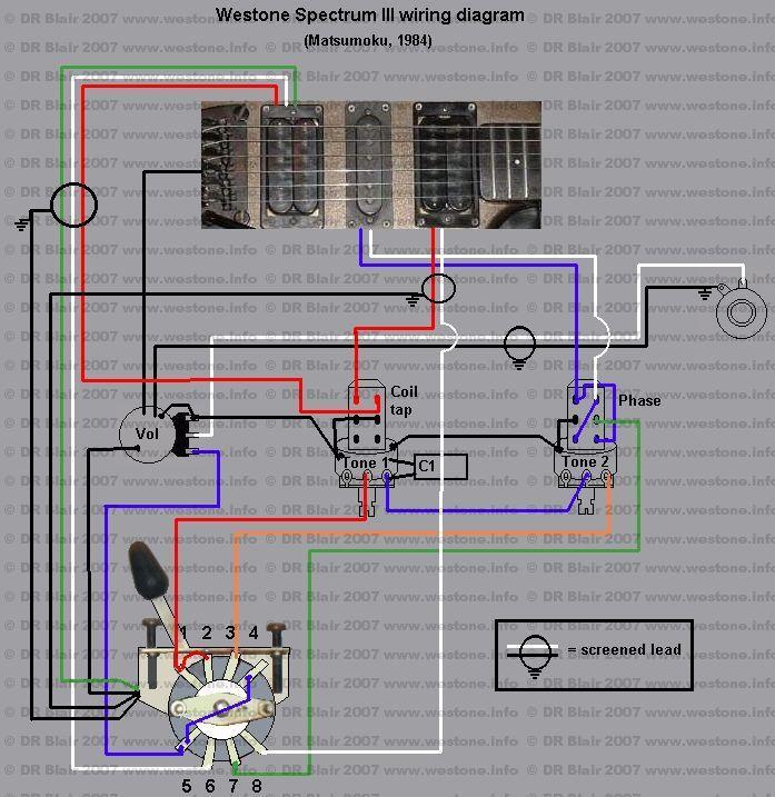 westone guitar wiring diagram