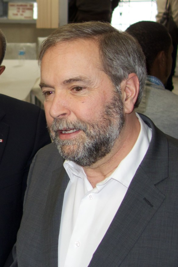 Mulcair - on the rise.