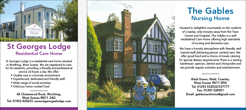 Technical Specifications West Sussex Care Guide