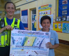 Children Lend a Hand to Drive Crime Prevention Message