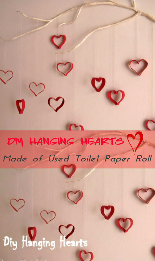 DIY Hanging Hearts Made Of Used Toilet Paper Roll   Occupational Therapist  Job Description