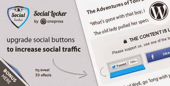 Free Download OnePRess Social Locker Premium V 3.7.2