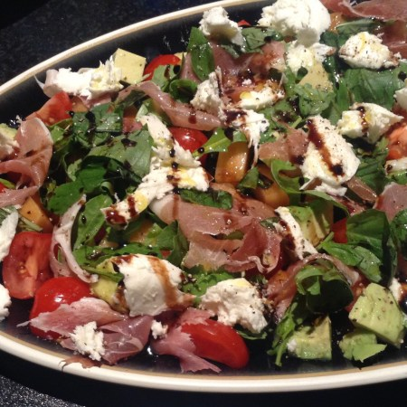 Cooking: Rocket Salad with Mozzarella, Parma Ham and Melon