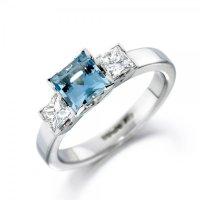 Platinum Aquamarine and Diamond Ring 1S33 | Christopher ...