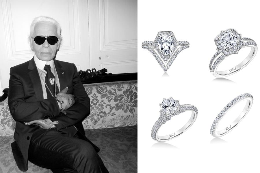 KARL LAGARFELD engagement ring