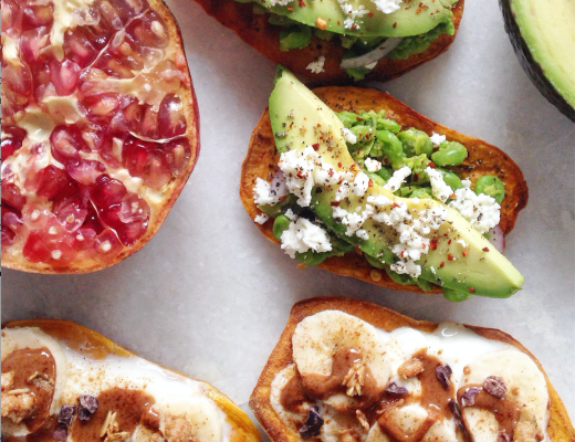 Sweet Potato Toasts, Done Two Ways