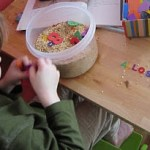 DIY Sensory Word Find for Kids