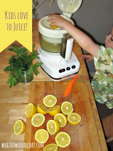 kids love juicing lemons