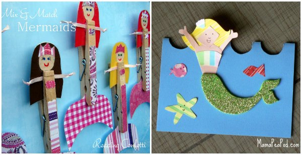 Fun mermaid crafts for children.