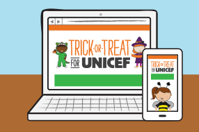 trick or treat for unicef online