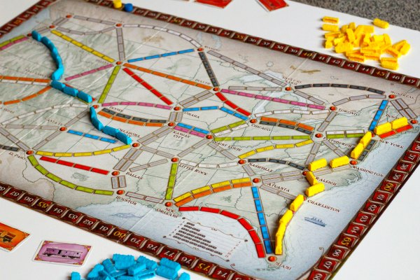Ticket to ride board game is fun for the whole family.