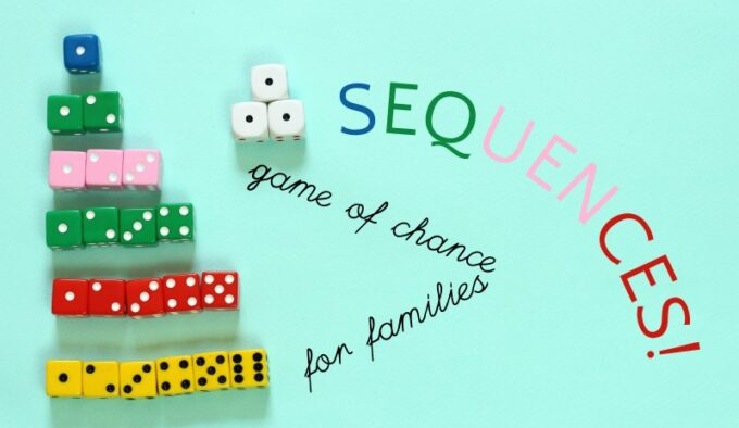 Sequences! Dice Game An Old Fashioned Family Game of Chance