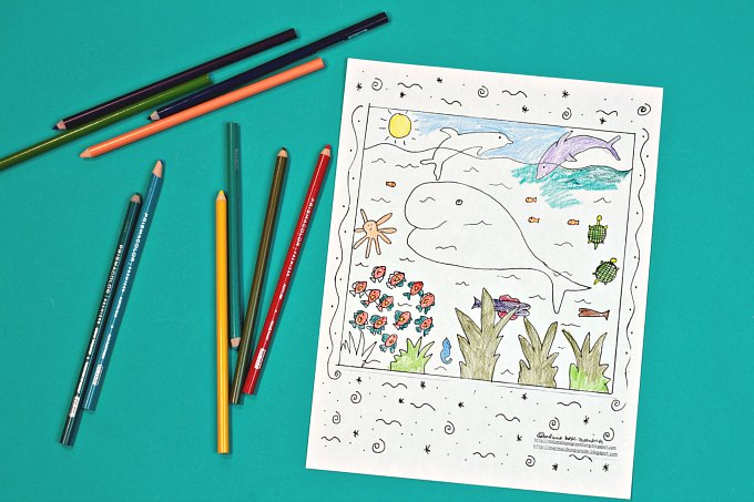 Under the Sea Coloring Page  Free Printable