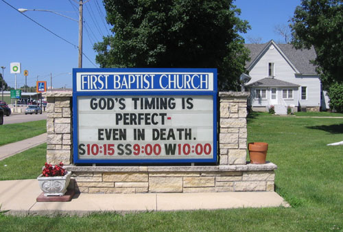 Gods timing sign