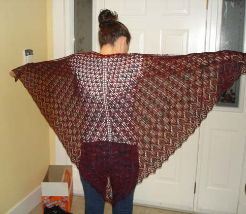 Finished Pangea shawl