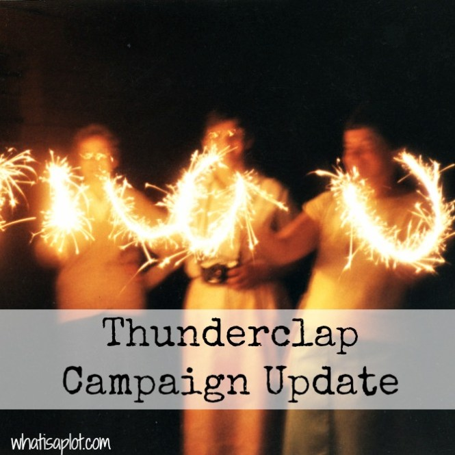 Here are the results of my Thunderclap campaign--crowd sourced social media support for my book Wasted.