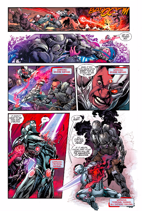 heres the new look dc comics gave cyborg whats a geek