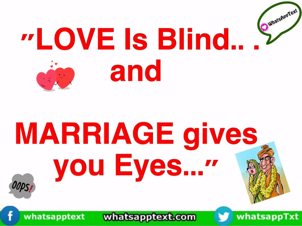 Whatsapp funny Fantastic Quote on Love Marriage - WhatsApp Text ...