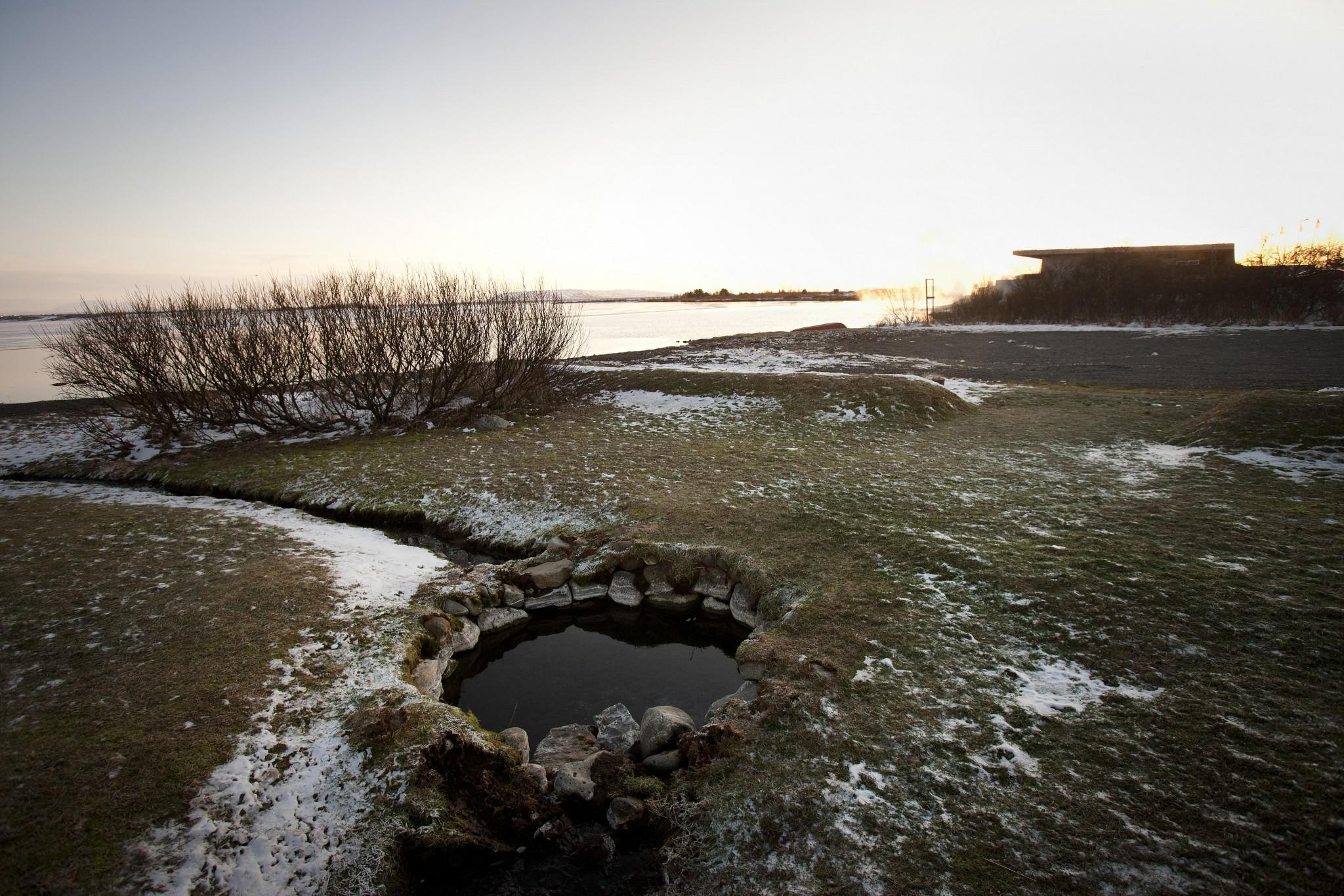 Varma källan Vigdalaug, intill Laugavatn Fontana Spa
