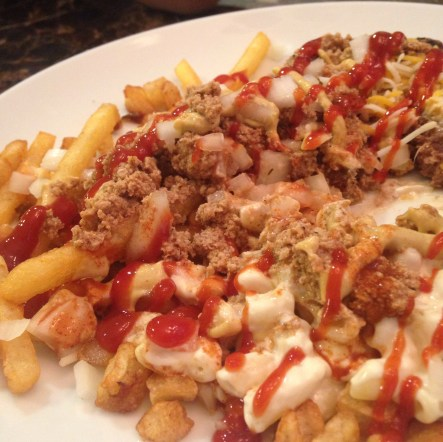The infamous garbage plate. Sooo bad for you, but soooo good for you.