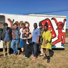 YOGOMAN, Renard and Blaze with Yogocrew and trailer. COURTESY PHOTO