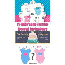 Small Crop Of Gender Reveal Invitations
