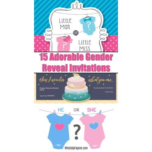 Medium Crop Of Gender Reveal Invitations