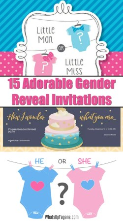 Small Of Gender Reveal Invitations