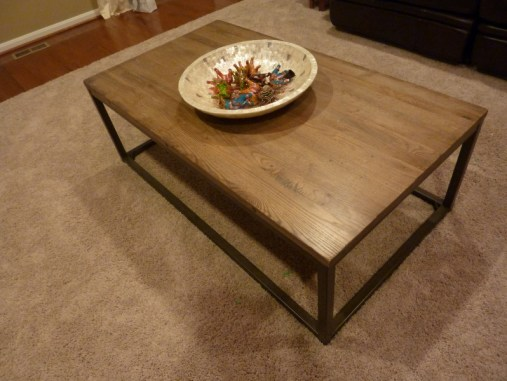 restoration hardware Brickmaker's Table knock off, reclaimed wood coffee table