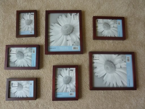 picture frames for gallery wall, Postcard Gallery Wall