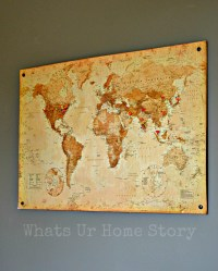 DIY Cork Board Map | Whats Ur Home Story