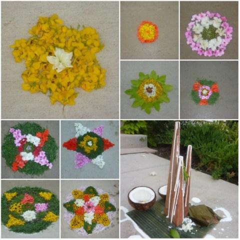 Onam flower carpet, small pookalam designs, Onam