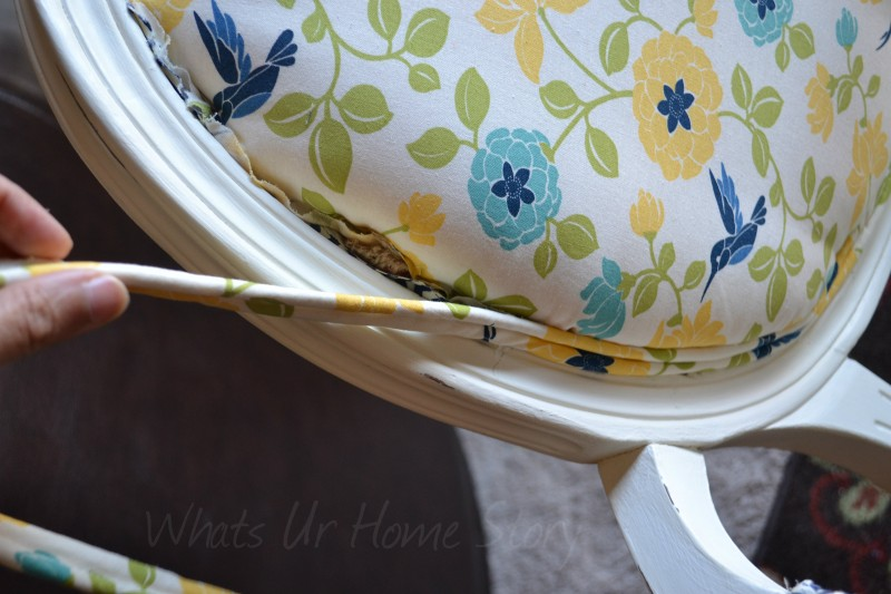 How to re-upholster a chair with piping welt cord