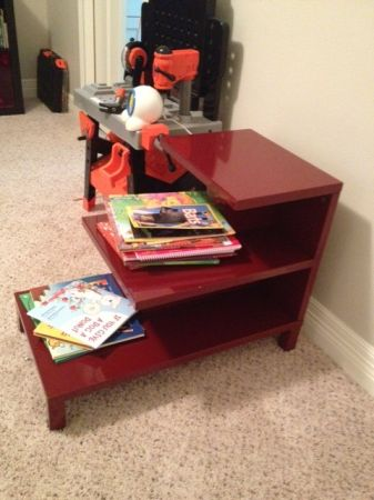 West Elm RED step side table
