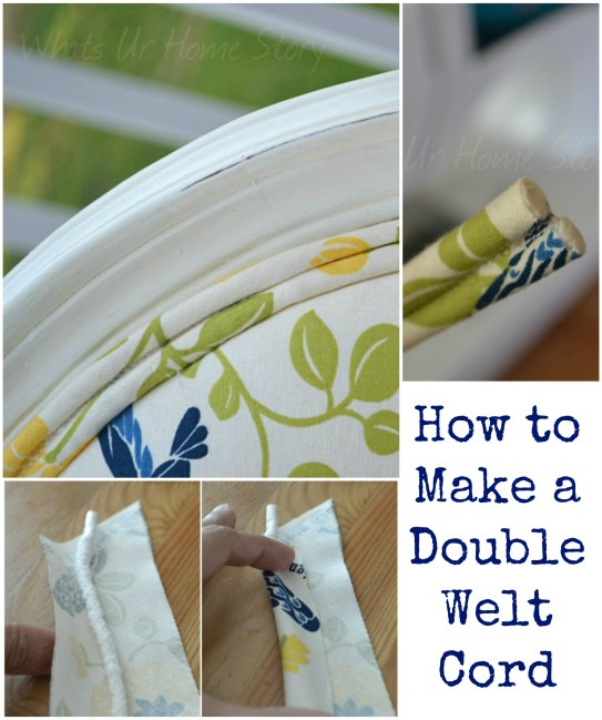 How to make Welt Cord Piping Upholstery